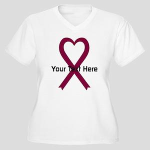 Personalized Burg Women's Plus Size V-Neck T-Shirt