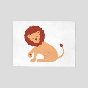 Lion Animal 5'x7'Area Rug