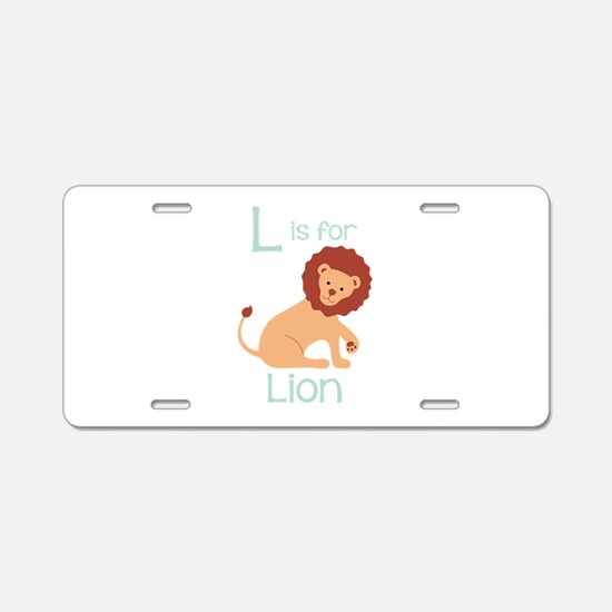 L Is For Lion Aluminum License Plate