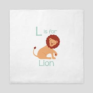 L Is For Lion Queen Duvet