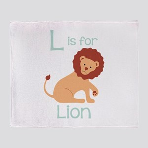 L Is For Lion Throw Blanket