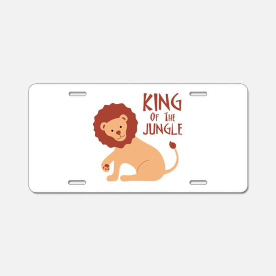 King Of The Jungle Aluminum License Plate