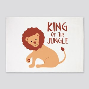 King Of The Jungle 5'x7'Area Rug