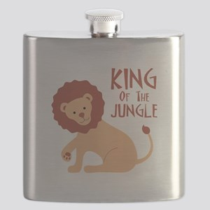 King Of The Jungle Flask
