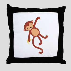 Monkey Animal Throw Pillow