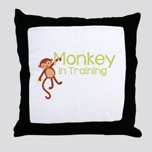 Monkey In Training Throw Pillow