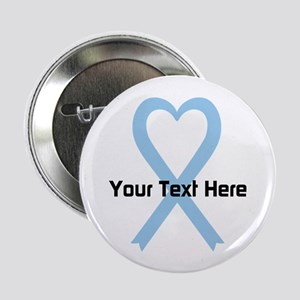 "Personalized Light Blue Rib 2.25"" Button (10 pack)"