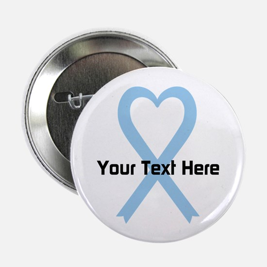 """Personalized Light Blue Rib 2.25"""" Button (10 pack)"""