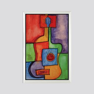 Colorful Guitar Rectangle Magnet