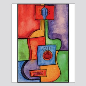 Colorful Guitar Small Poster