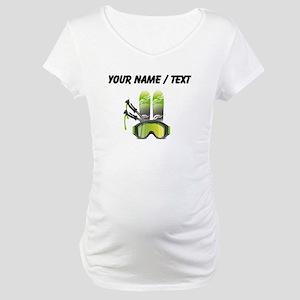 Custom Ski Gear Maternity T-Shirt