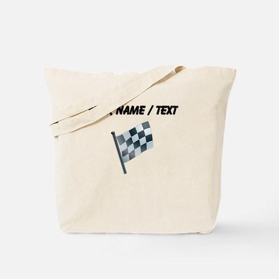 Custom Checkered Flag Tote Bag