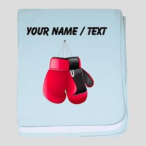 Custom Boxing Gloves baby blanket