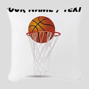 Custom Basketball Hoop Woven Throw Pillow