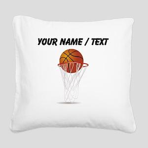 Custom Basketball Hoop Square Canvas Pillow