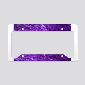 Purple Tresses License Plate Holder