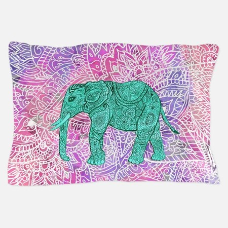 Teal Tribal Paisley Elephant Purple He