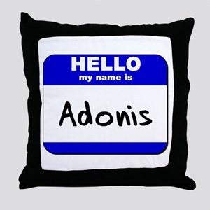 hello my name is adonis  Throw Pillow