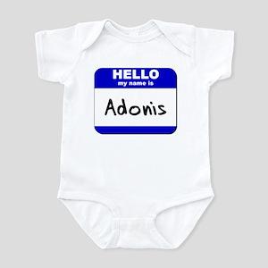 hello my name is adonis  Infant Bodysuit