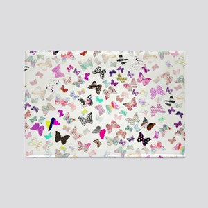Girly Butterflies Aztec Floral St Rectangle Magnet