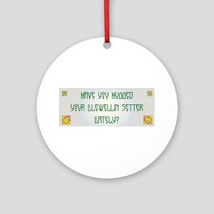 Hugged Llewellin Ornament (Round)