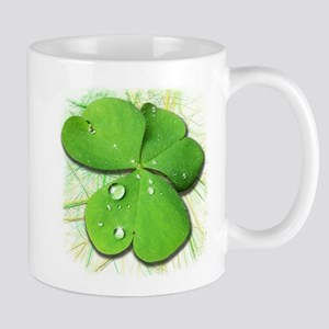 Green Shamrock with Dew Mugs