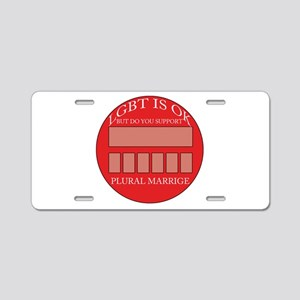 Plural marriage Aluminum License Plate