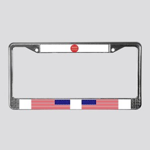 Plural marriage License Plate Frame