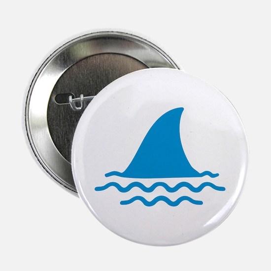 """Blue shark fin 2.25"""" Button"""