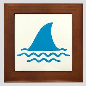 Blue shark fin Framed Tile
