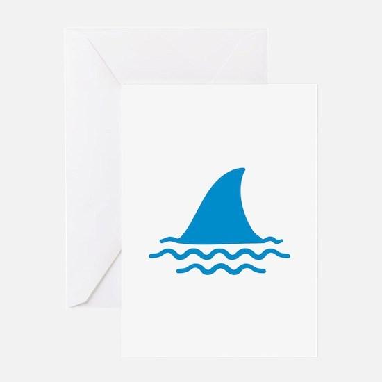 Blue shark fin Greeting Card