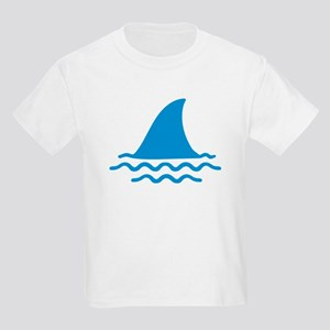 Blue shark fin Kids Light T-Shirt