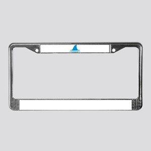 Blue shark fin License Plate Frame