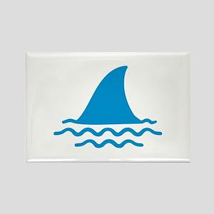 Blue shark fin Rectangle Magnet