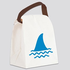 Blue shark fin Canvas Lunch Bag