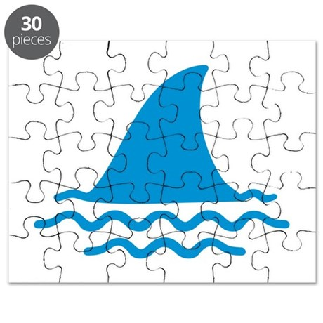 Blue shark fin Puzzle