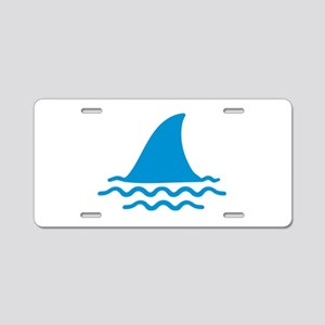 Blue shark fin Aluminum License Plate