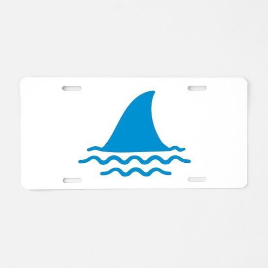 Blue shark fin Aluminum License Plate