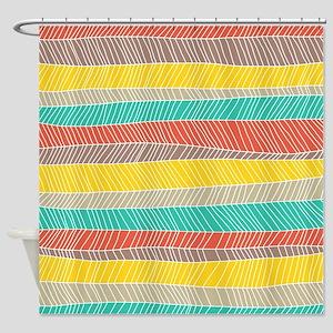 Stripe Dash Warm Shower Curtain