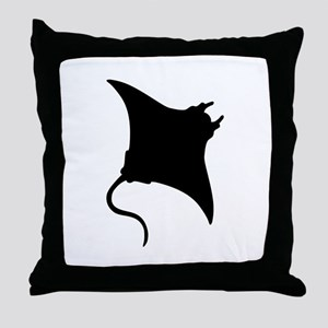 Manta Ray Throw Pillow
