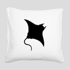 Manta Ray Square Canvas Pillow