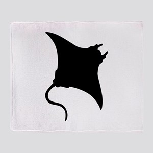 Manta Ray Throw Blanket