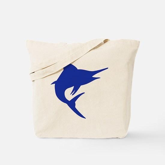 Blue Marlin Fish Tote Bag