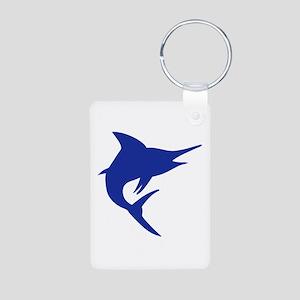 Blue Marlin Fish Aluminum Photo Keychain