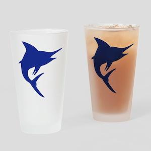 Blue Marlin Fish Drinking Glass