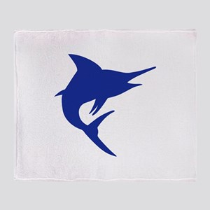 Blue Marlin Fish Throw Blanket