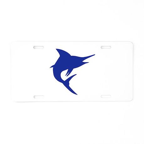 Blue Marlin Fish Aluminum License Plate By Mrteeshop