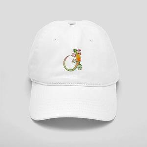 Gecko Floral Tribal Art Baseball Cap