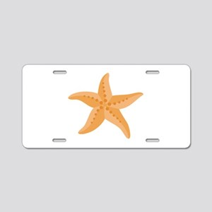 Orange Starfish Aluminum License Plate