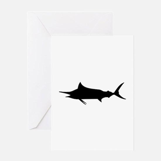 Marlin Fish Greeting Card